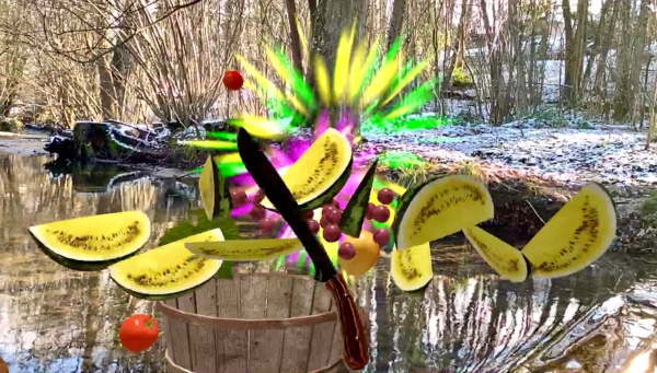 Fruit Warrior AR - Game Still