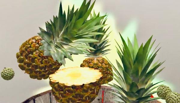 Fruit Warrior AR - Game Still